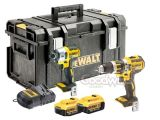 DeWalt Brushless 4.0 Ah XR DCD795 Combi Drill & DCF886 Impact Kit - DS300 Kitbox